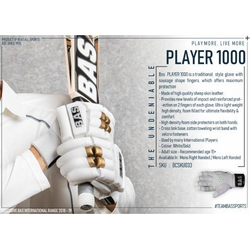 Player 1000 Batting Gloves - Mansfield Sports Group
