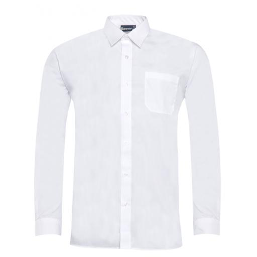 Long and Short sleeved button to neck shirts: